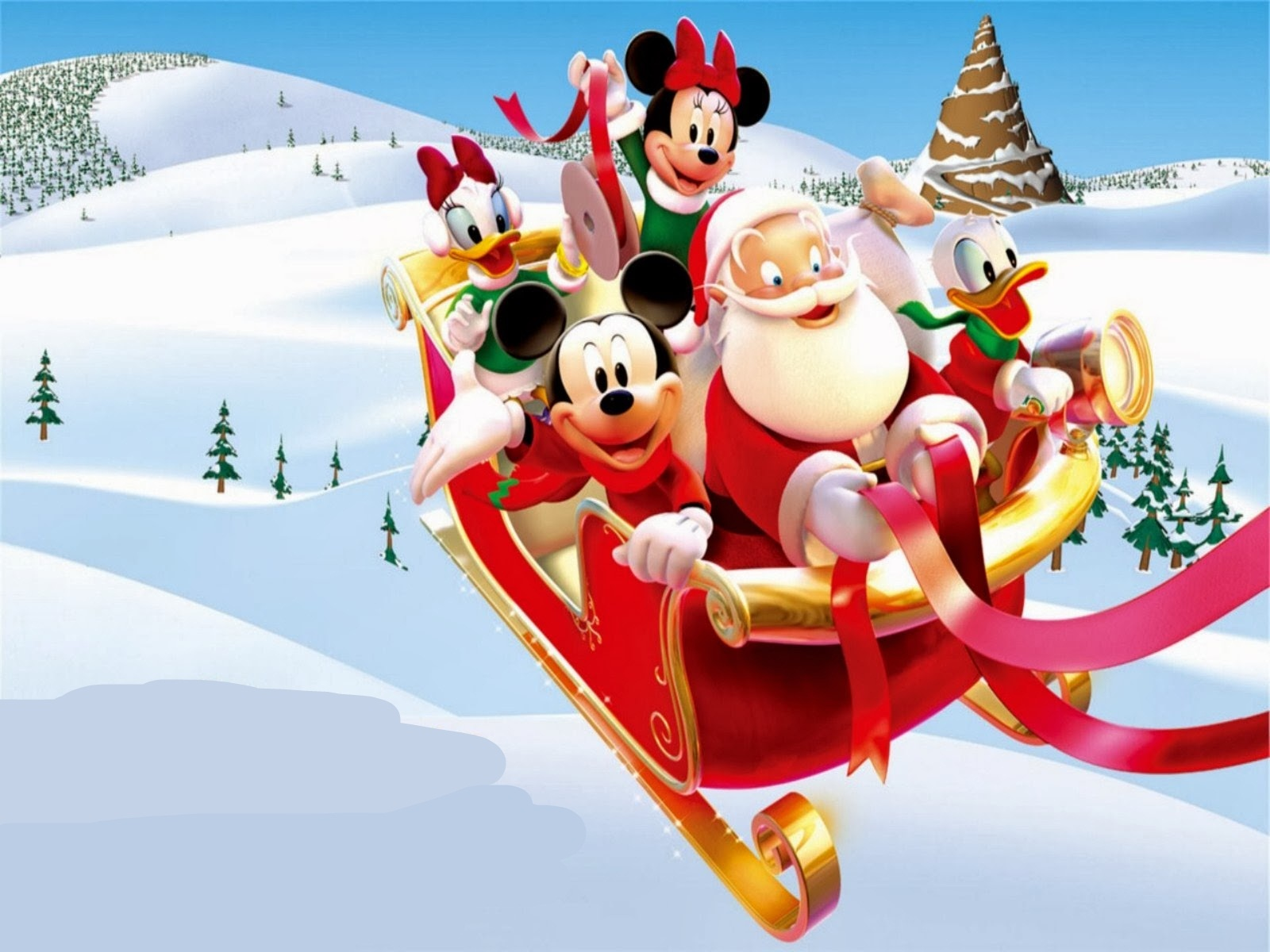 Hd Wallpapers Mickey Mouse Christmas Santa Claus 279281 Desktop
